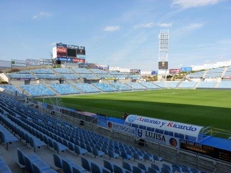 Kig indefor på Getafe CF stadion Alfonso Perez