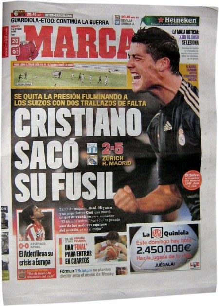 Cristiano Ronaldo tog sit gevær frem - Zurich - Real Madrid 2-5