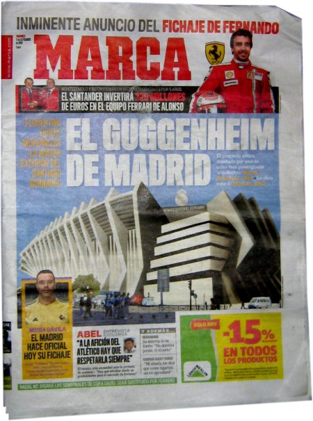 Estadio Santiago Bernabeu - det nye Guggenheim i Madrid