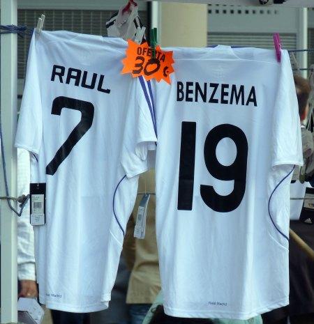 Real Madrid kopitrøjer med uofficielt tryk
