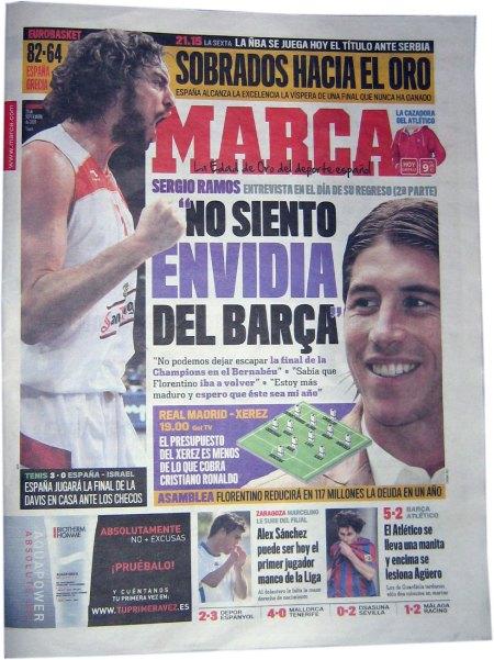 Sergio Ramos: Jeg er ikke misundelig på Barca