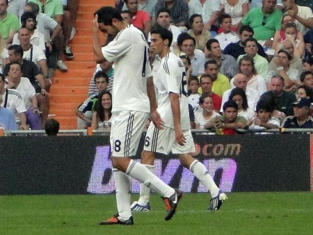 The two new Spanish internationals Albiol and Arbeloa