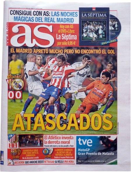 Spanske presse forside efter Sporting Real: stoppet