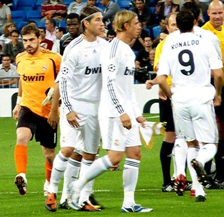 Real Madrid og Spanien's spillerne Casillas og Ramos