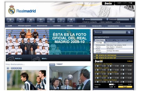 Real Madrid home page