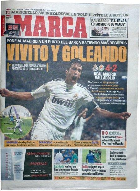 Spansk presse forside 18 oktober