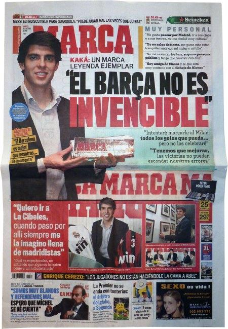 Kaka modtager prisen Marca Leyenda