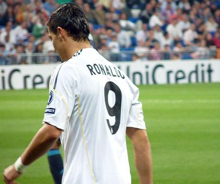 Cristiano Ronaldo på Bernabeu i Madrid