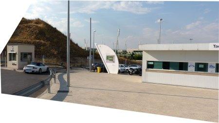 Indgang til Real Madrid's træningsanlæg Ciudad Real Madrid