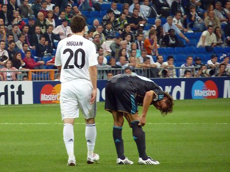 2 argentinske fodboldspillere Higuain og Heinze