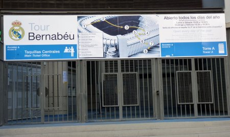 Stadiontur på Estadio Santiago Bernabeu
