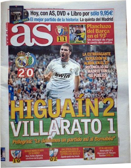 Real Madrid - Getafe 2-0 Higuain hedder kongeriget