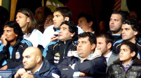 Diego Maradona og det argentinske landshold på Bernabeu