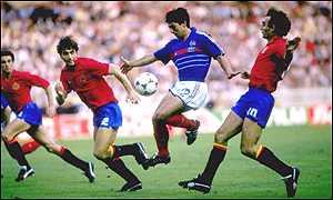 Giresse Frankrig EM 1984 trøje