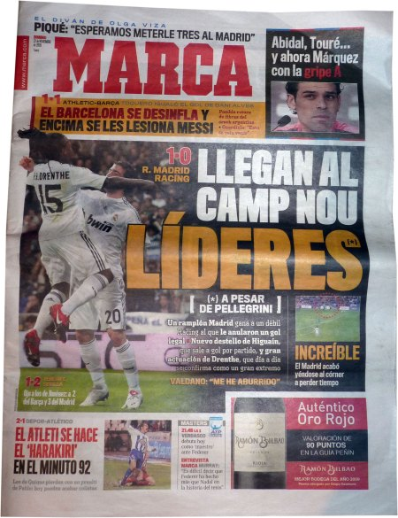 Forside Real Madrid - Racing Santander 1-0