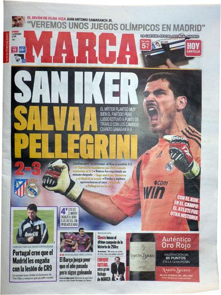 Den spanske sportspresse efter Atletico - Real 2-3 kampen