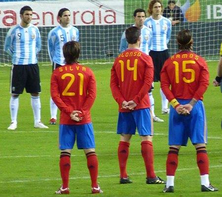 Ramos 15 tryk på en spansk VM 2010 landsholdstrøje