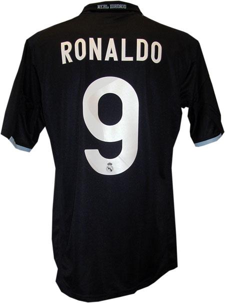 Real Madrid udebane trøje med Ronaldo 9 tryk