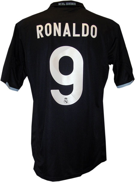 b68c3cc1a8b8 Real Madrid udebane trøje med Ronaldo 9 tryk