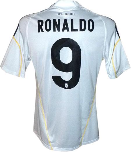 Real Madrid hjemme trøje med Ronaldo 9 tryk