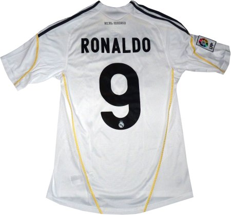 Real Madrid hjemme troje med tryk Ronaldo