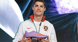 Ronaldo vapor støvler i lilla