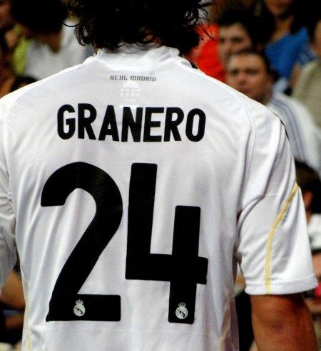Real Madrid spiller Granero med nummer 24 på ryggen