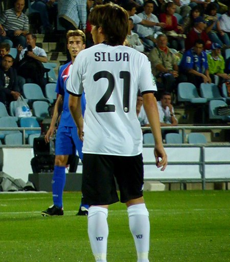 David Silva for Valencia med rygnummer 21