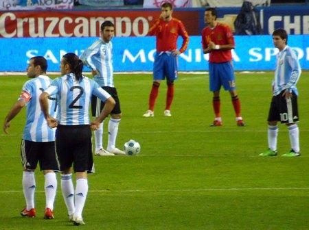 Higuain og Messi - Mascherano og Demichelis