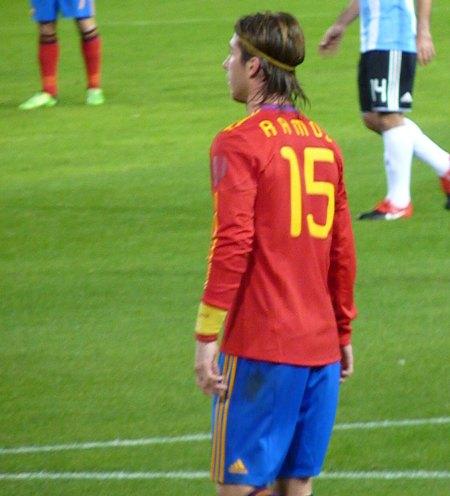 Spaniens trøje med RAMOS 15