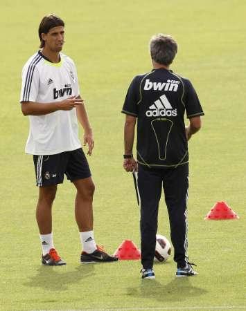 Khedira og Mourinho til træning