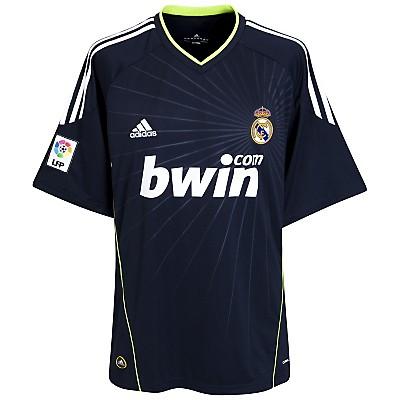 Real Madrid udebane trøje 2010/11